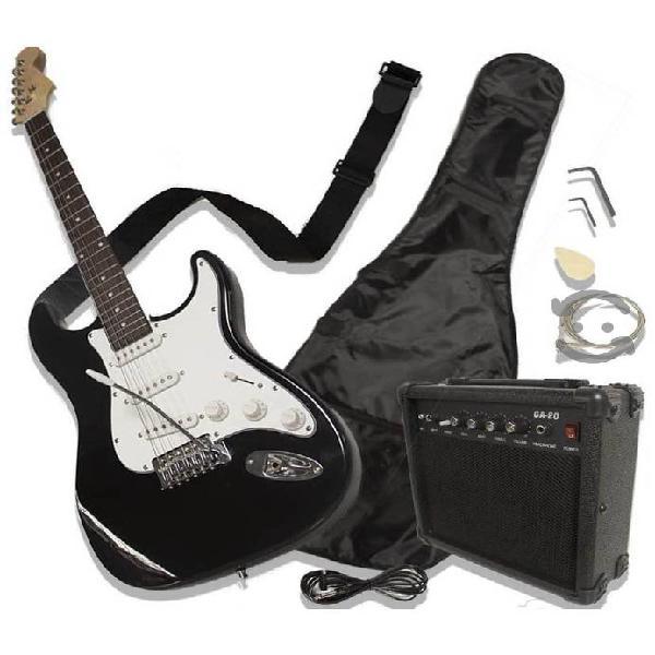 Guitarra eléctrica tipo stratocaster con ampli