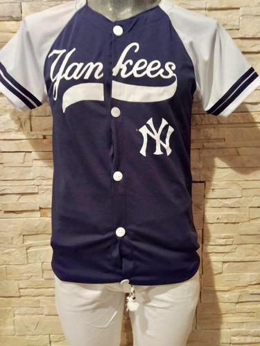 Jersey casaca de beisbol ny yankees talla chica azul marino