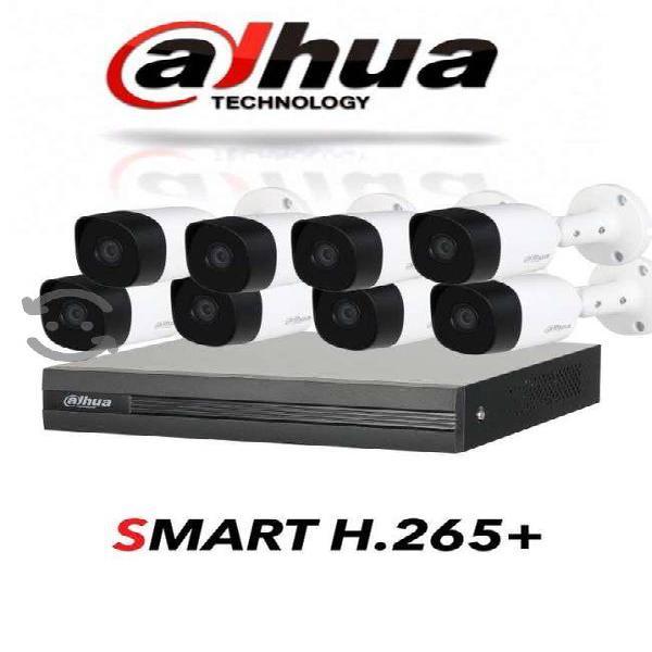 Kit dahua 8 canales 8 camaras 1080p