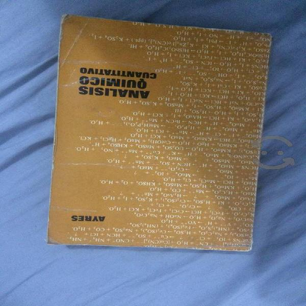 Libro análisis químico cuantitativo ayres