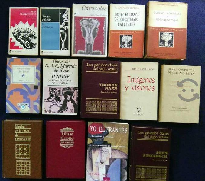 Libros títulos/autores/temas varios $120 c/u!