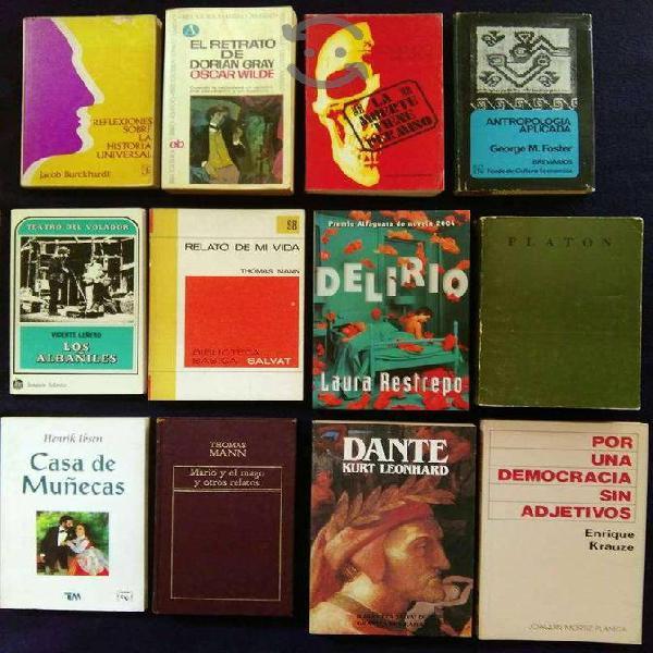 Librosusados títulos/autores/temas varios $60 c/u!