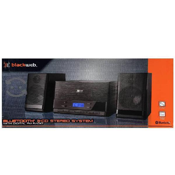 Nuevo blackweb bluetooth 3 cd stereo system