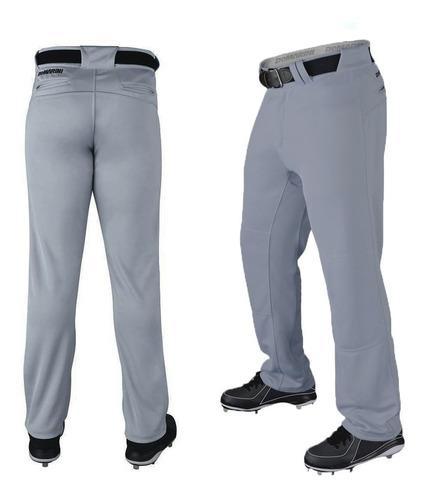 Pantalon beisbol demarini gris t 32 oferta + cinturon elasti