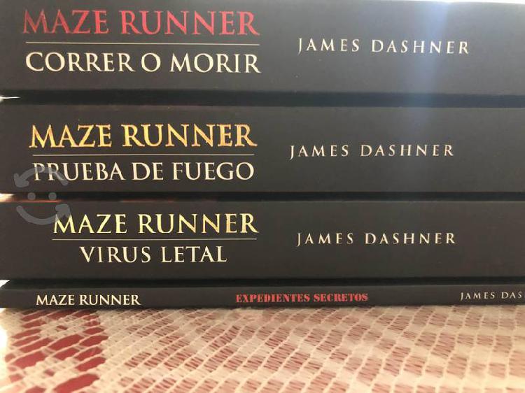 Saga completa maze runner de james dashner