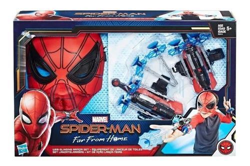 Set del hombre araña marvel mascara y lanza dardos