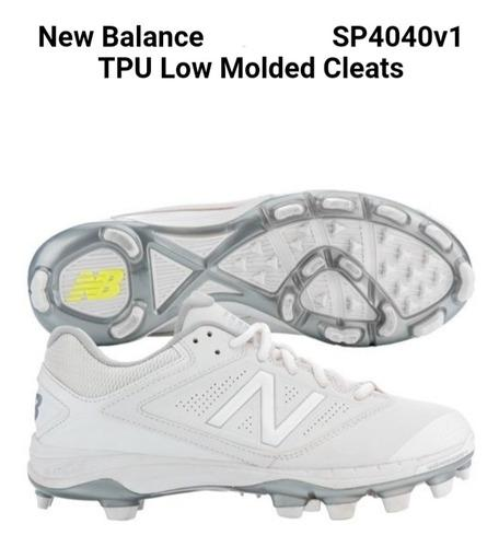 Taquetes new balance talla 26 color blanco beisbol y softbol