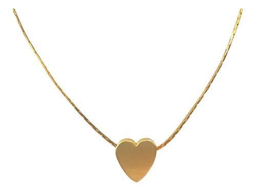 Collar corazón chapa de oro 24k regalo pareja
