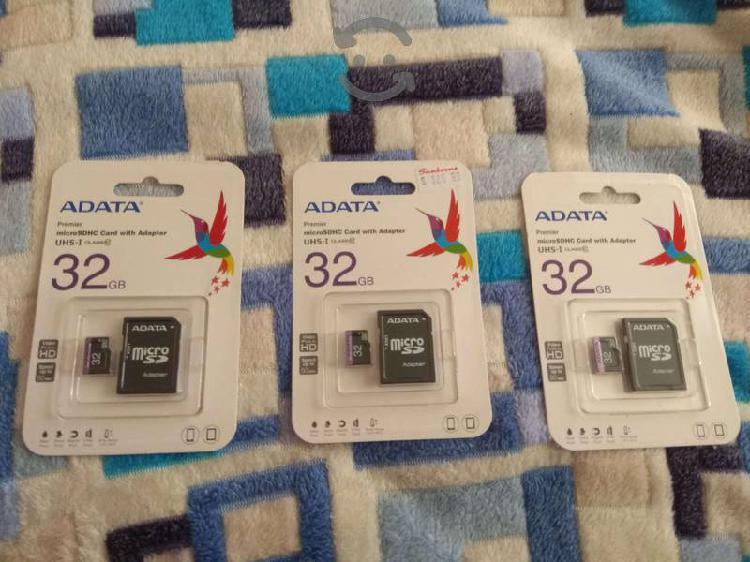 Lote 3 memorias micro sd 32gb adata clase10 nueva