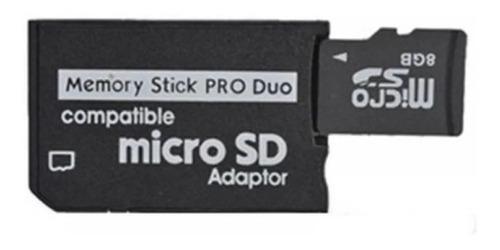Adaptador micro sd a pro duo para psp camara