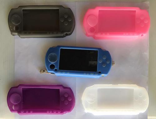 Funda protector silicon cases para sony psp fat 1000 colores