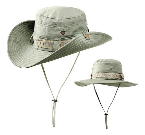 Gorra de safari con protección uv plegable para verano
