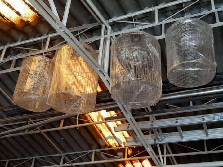 Jaulas decorativas de latón doradas $1,100 mxn c/u
