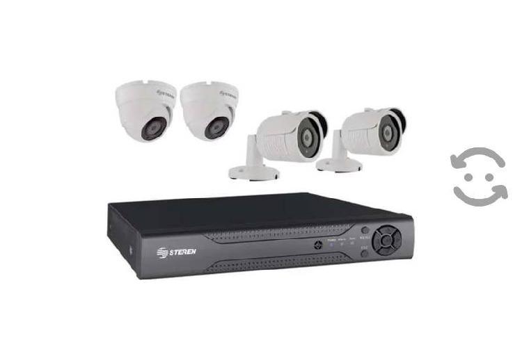 Kit cctv circuito cerrado vigilancia 1080p 4 camar