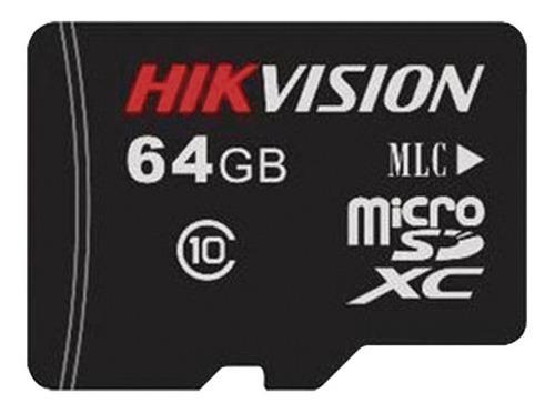 Memoria micro sd 64 gb hikvision clase 10 especial para cctv