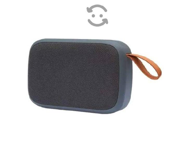Mini bocina bluetooth recargable usb micro sd rubb