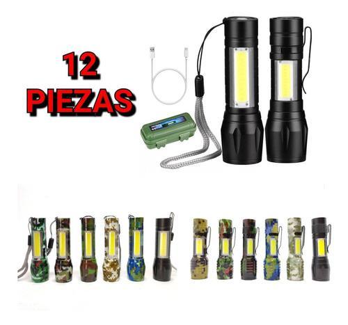Pack 12 mini lámpara 4000 lmns táctica zoom facturamos