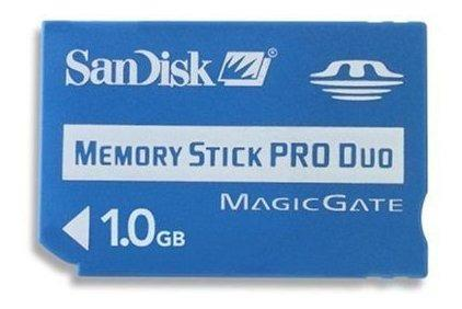 Sandisk 1 gb memory stick pro duo sdmspd1024a11 paquete a g