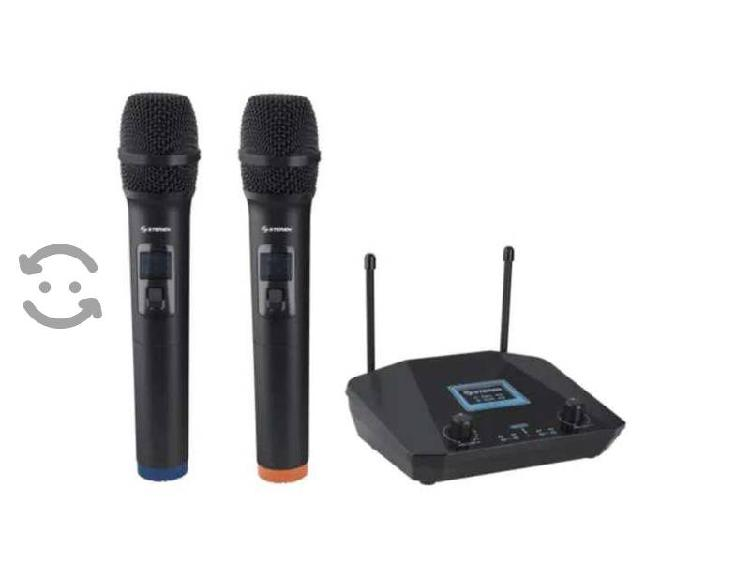 Sistema profesional con 2 micrófonos inalámbricos