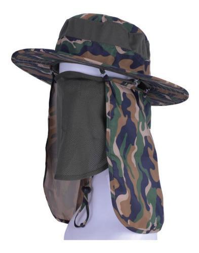 Sombrero protector solar camping pesca caza safari, sendero