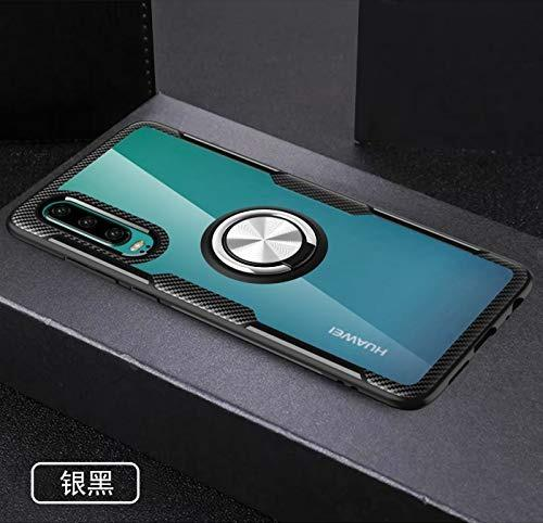 Yuehuanyi slim fit transparente carcasa, 360° giratorio met