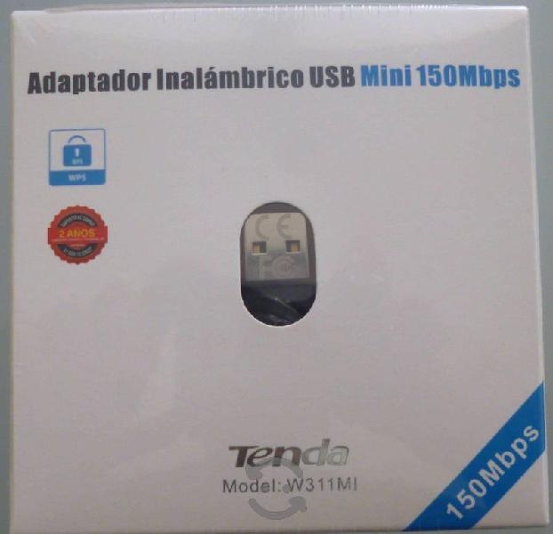 Adaptador mini usb wifi inalambrico tenda 150mbps