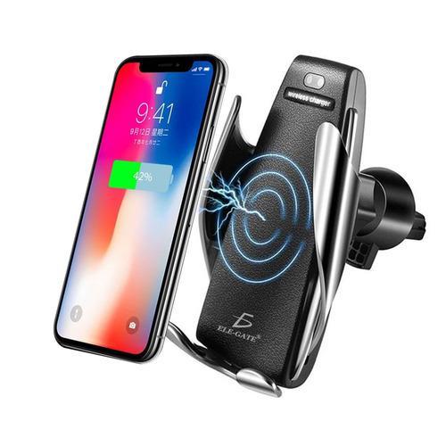Base celular soporte android cargador inalámbrico coche