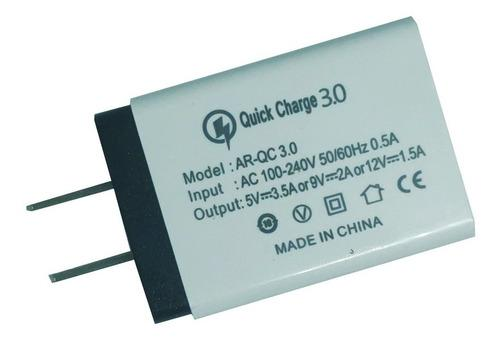 Cargador quick charge 3.0 carga rápida fast charge turbo