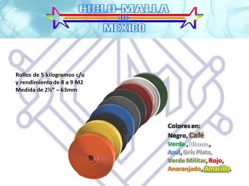Cinta plástica rompe vientos varios colores