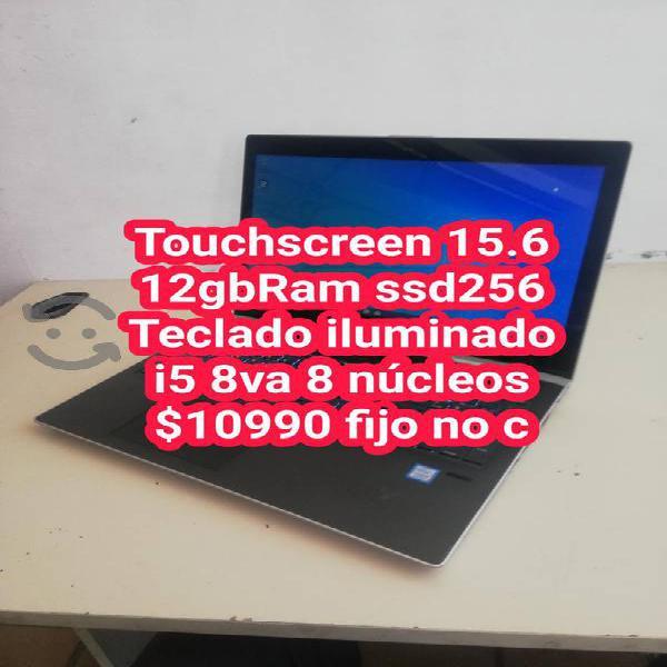 "Laptop touchscreen 12gbram ssd256gbs 15.6"" i5 8va"