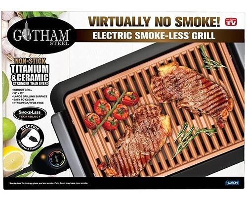Nuevo gotham grill parrilla asador electrico anti-adherente