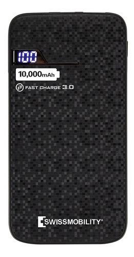 Power bank swissmobility 10000mah carga rápida pb-8610