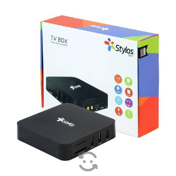 Tv box 4k 1+8 stylos stvtbx3b, wifi / ethernet, 4k