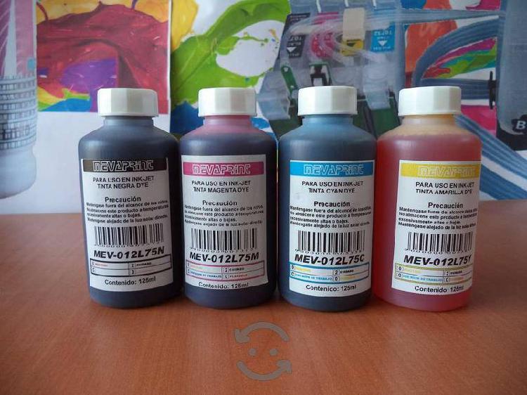 Tintas para sistema continuo epson 125ml