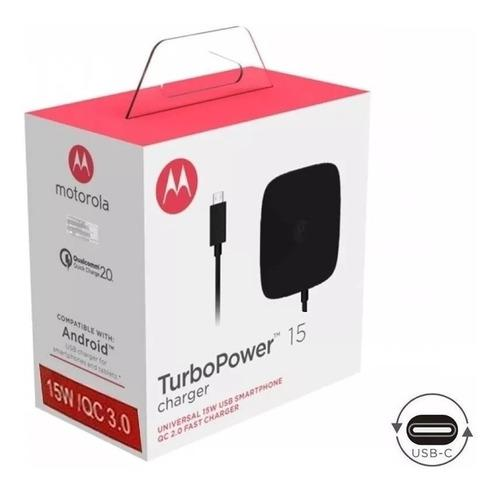 Turbo cargador motorola z tipo c fast charger power 15w