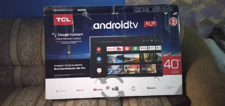 "Pantalla smart android tv de 40"" marca tcl al 100"