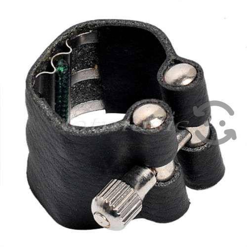 Abrazadera de piel rieles metal alto/clarinete sib