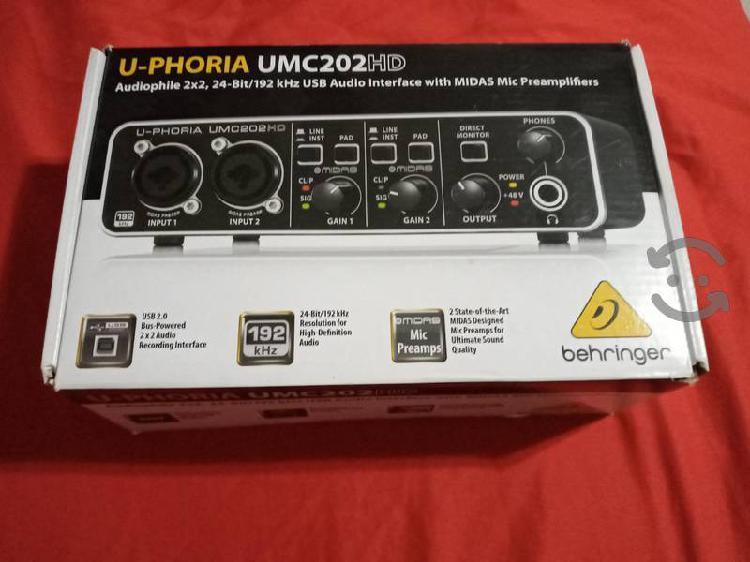 Interfaz para grabar audio profesional
