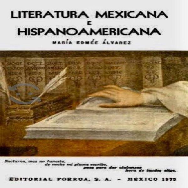 Literatura mexicana e hispanoamericana - m edmée a