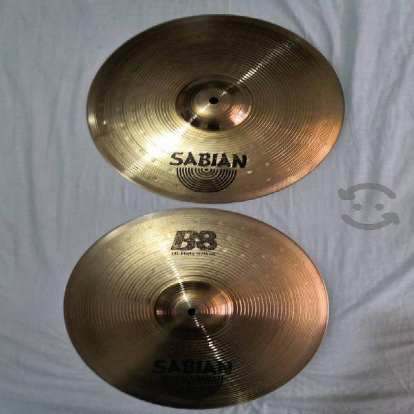"Platillo sabian b8 14"" hit hats"