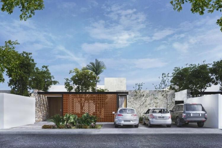 Casa nueva de una sola planta, modelo caoba en conkal,