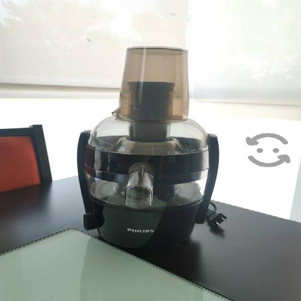 Extractor de jugos compacto negro philips hr1832/0