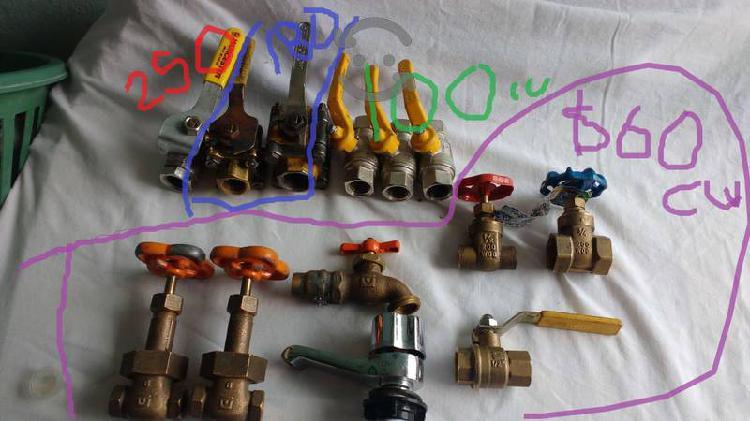Llaves valvulas de paso agua gas urrea worcester
