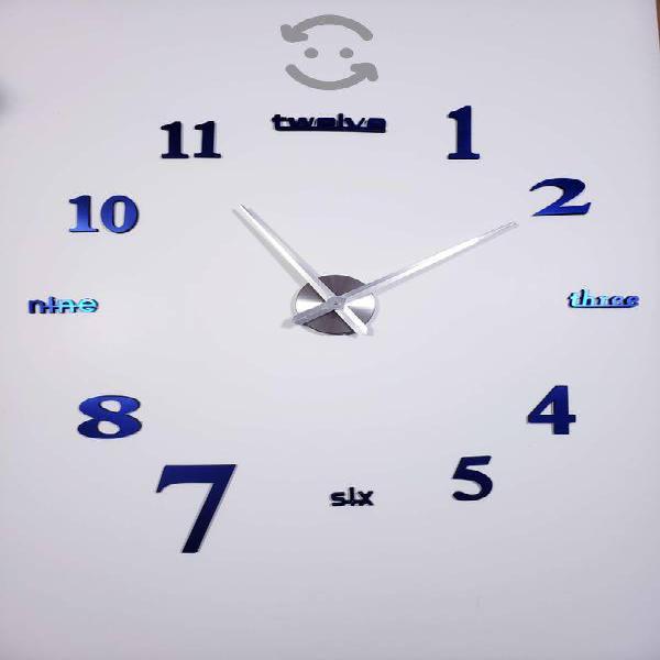 Relojes 3d para decorar tu hogar 1.20 mts