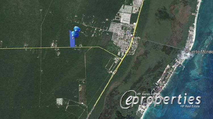 Terreno en venta ruta de los cenotes, puerto morelos.
