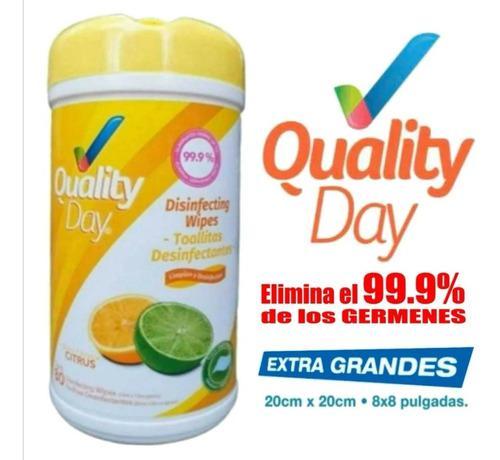 Toallitas desinfectantes quality day con 80 toallas