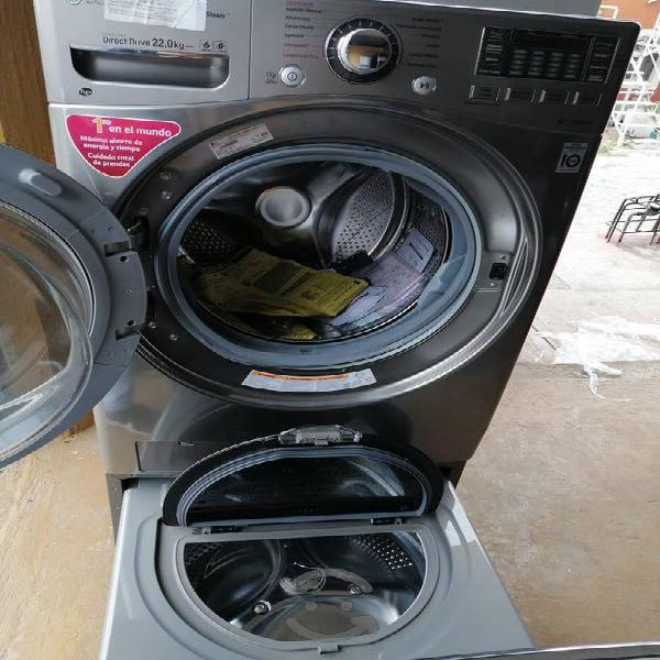 Lavadora lg 22 kg con mini lavadora de 3.5kg