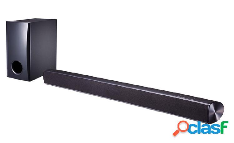 Lg barra de sonido con subwoofer sh2, bluetooth, 2.1, 100w rms, usb, negro