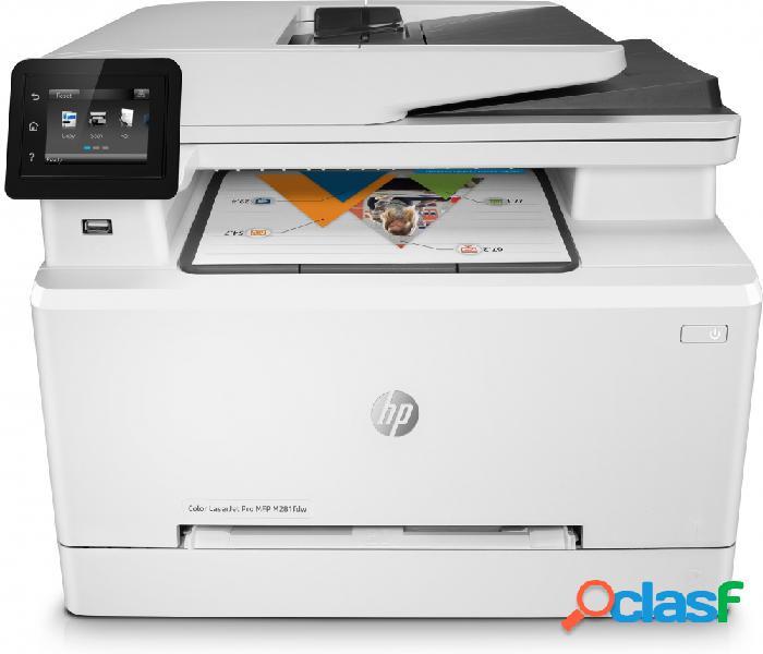 Multifuncional hp laserjet pro m281fdw, color, láser, inalámbrico, print/scan/copy