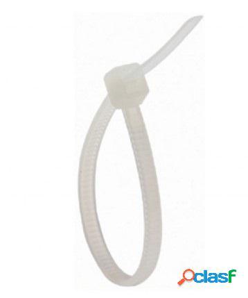 Steren cintillo plástico 9.6cm x 2.5mm, blanco, 100 piezas